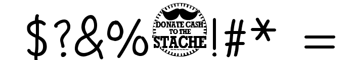 Movember Font OTHER CHARS