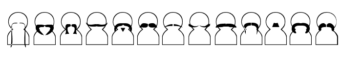 Movember Font LOWERCASE