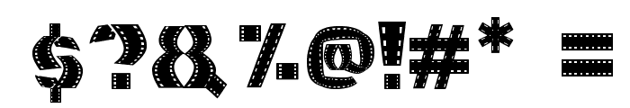 Movie Filmstrip Font OTHER CHARS