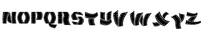 Movie Filmstrip Font UPPERCASE