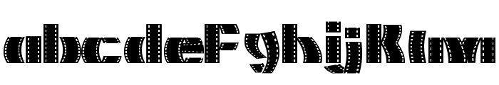 Movie Filmstrip Font LOWERCASE