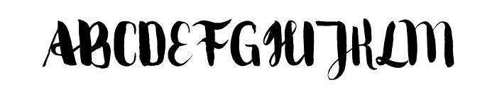 MovusBrushPen Font UPPERCASE