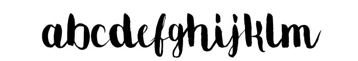 MovusBrushPen Font LOWERCASE