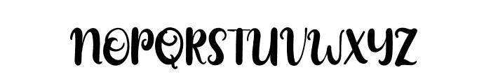 Mozzarella Standard Font UPPERCASE