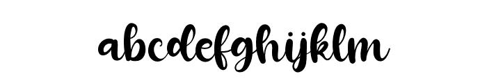 Mozzarella Standard Font LOWERCASE