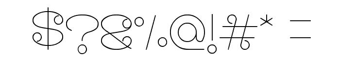 modern aristrocrat Font OTHER CHARS