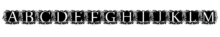 modern kerawang Font UPPERCASE
