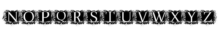 modern kerawang Font LOWERCASE