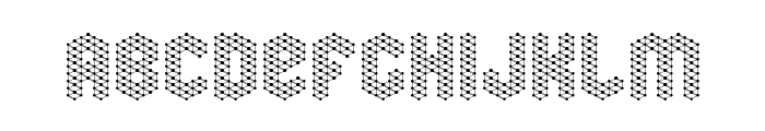 molecular complex 1 Regular Font UPPERCASE