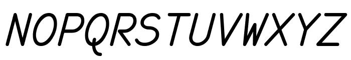 monofur   italic Font UPPERCASE