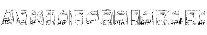 monsterboxes Font UPPERCASE