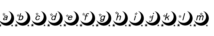 moon font Font LOWERCASE