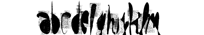 moskito screen Font LOWERCASE
