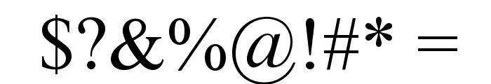 Mongolian Baiti Font OTHER CHARS