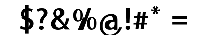 MooreheadBold Font OTHER CHARS