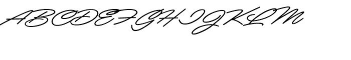 Mocha Script Regular Font UPPERCASE