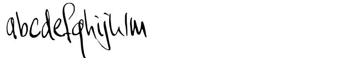 Moi Non Plus Regular Font LOWERCASE