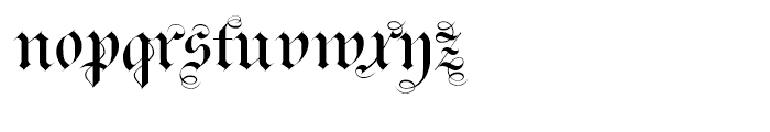 Monkeytails Normal Font LOWERCASE