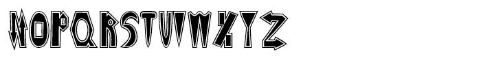 Monkeywrench Stuffed Font UPPERCASE