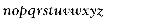 Monotype Goudy Catalogue Italic Font LOWERCASE