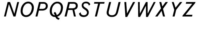 Monotype Grotesque Italic Font UPPERCASE