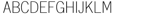 Monotype Lightline Gothic Regular Font UPPERCASE