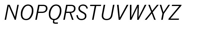 Monotype News Gothic CE Italic Package Font UPPERCASE