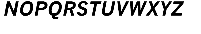 Monotype News Gothic WGL Bold Italic Font UPPERCASE