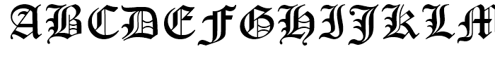Monotype Old English Text Font UPPERCASE