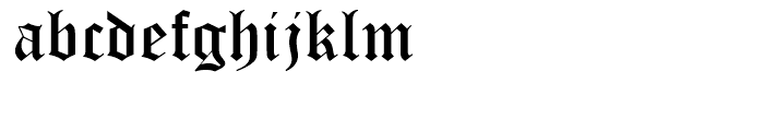 Monotype Old English Text Font LOWERCASE