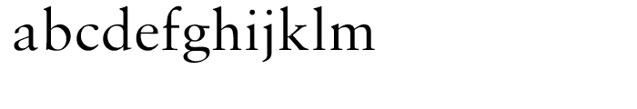 Monotype Sabon Regular Font LOWERCASE