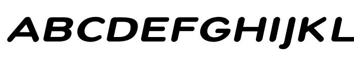 Montag Black Oblique Font UPPERCASE