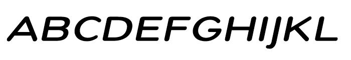 Montag Bold Oblique Font UPPERCASE