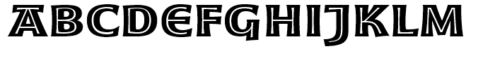 Moonglow Bold Extended Font LOWERCASE