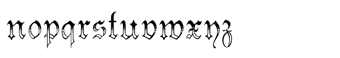 Morover Regular Font LOWERCASE