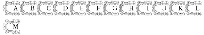 Mortised Capitals Regular Font UPPERCASE