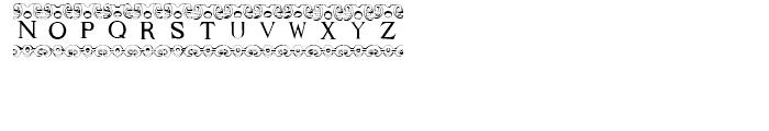 Mortised Capitals Regular Font LOWERCASE