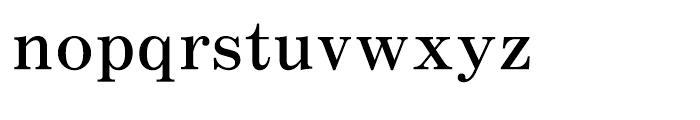 Motoya Mincho W4 Font LOWERCASE
