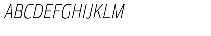 Moveo Sans Condensed Light Italic Font UPPERCASE
