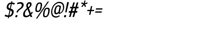 Moveo Sans Condensed Medium Italic Font OTHER CHARS