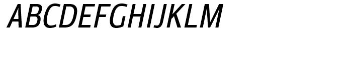 Moveo Sans Condensed Medium Italic Font UPPERCASE