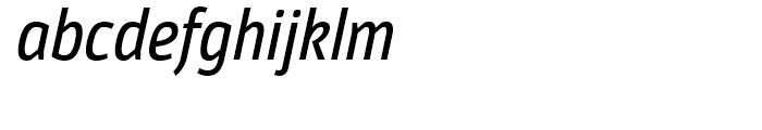 Moveo Sans Condensed Medium Italic Font LOWERCASE