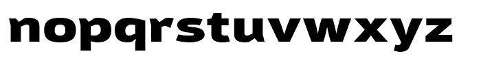Moveo Sans Extended Black Font LOWERCASE