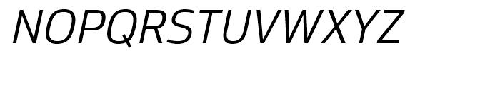 Moveo Sans Italic Font UPPERCASE