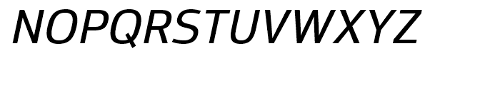 Moveo Sans Medium Italic Font UPPERCASE