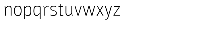 Moveo Sans SemiCondensed Light Font LOWERCASE