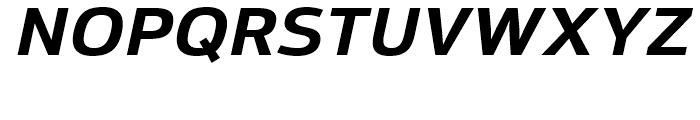 Moveo Sans SemiExtended Bold Italic Font UPPERCASE