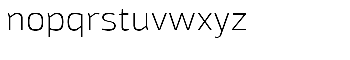 Moveo Sans SemiExtended Light Font LOWERCASE