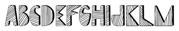 Mondiale Block Striped Regular Font UPPERCASE