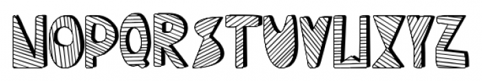 Mondiale Block Striped Regular Font LOWERCASE
